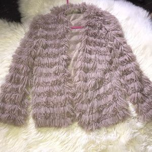 Audrey 3+1 Faux Fur sweater size Small